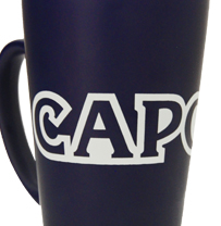 Capcom® Logo Cobalt Blue Ceramic Mug