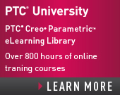 PTC University Creo Parametric eLearning Library with Support- Perpetual Access - $1,500.00 - Order Now!