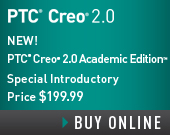 PTC Creo 2.0 Academic Edition - One Year Term License - $199.99 - Order Now!