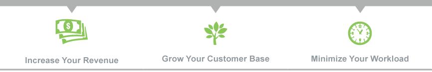Schrijf u in om uw omzet te verhogen, meer klanten te krijgen, uw werkdruk te verlagen