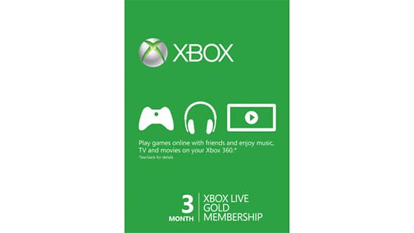 Xbox Live 3-Month Gold Membership Card