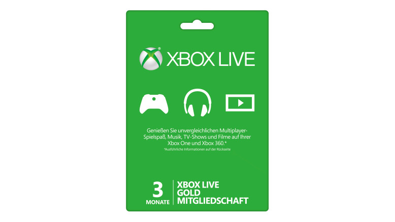 3-monatige Xbox Live Gold-Mitgliedschaft