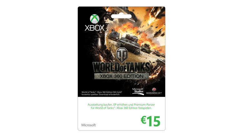 "15 EURO "" World of Tanks"" Xbox-Geschenkkarte"