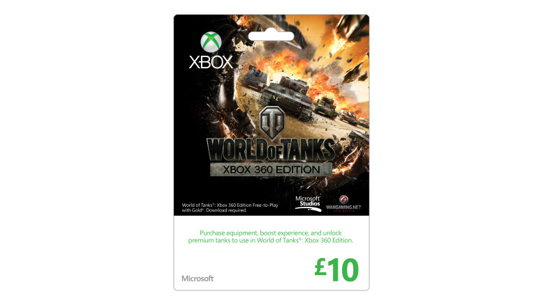 10 GBP World of Tanks Xbox Gift Card