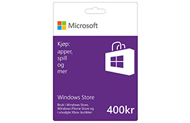 Gavekort på 400 kr i Windows Store