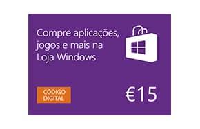 Cartão de Oferta de 15€ da Loja Windows