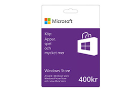 400 kr Windows Store-presentkort