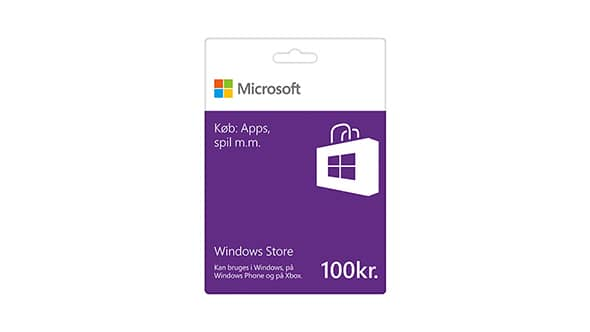 Windows Store-gavekort: 100 kr