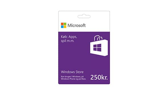 Windows Store-gavekort: 250 kr