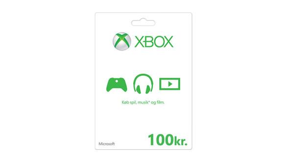Xbox-gavekort: 100 kr