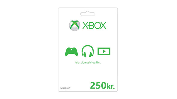Xbox-gavekort: 250 kr