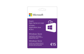 Windows Store-waardebon 15 €