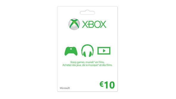 Xbox LIVE-cadeaubon: € 10