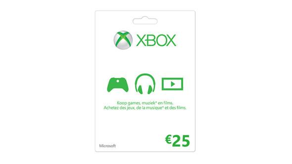 Xbox LIVE-cadeaubon: 25 €