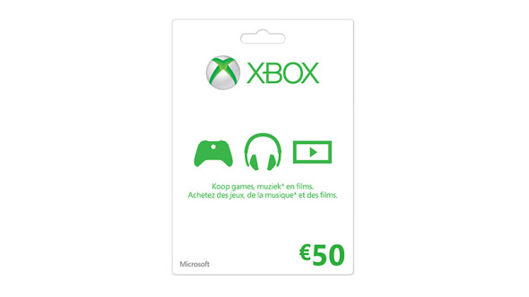 Xbox LIVE-cadeaubon: 50 €