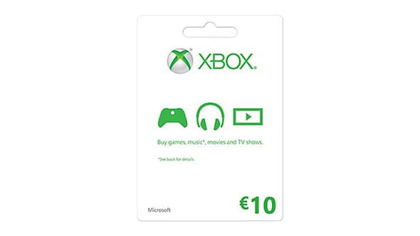 Xbox LIVE Gift Card: € 10