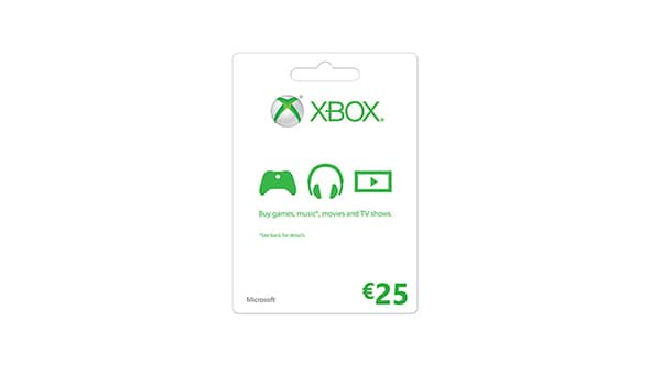 Xbox LIVE Gift Card: € 25