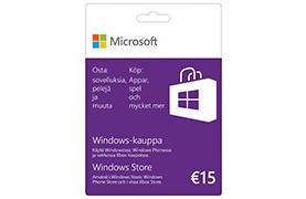 15€ lahjakortti Windows-kauppaan