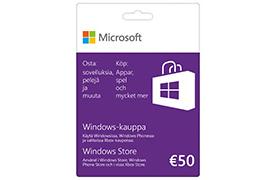50€ lahjakortti Windows-kauppaan