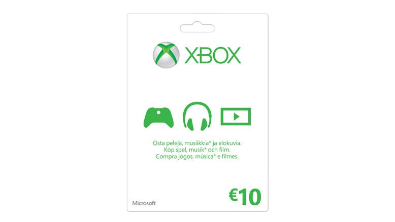 Xbox-lahjakortti: 10€