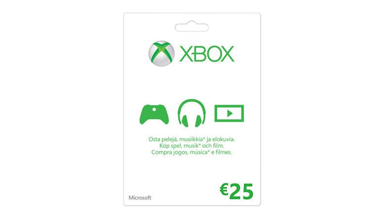 Xbox-lahjakortti: 25€