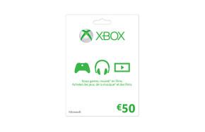 Carte Xbox LIVE : 50 €