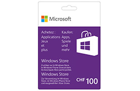 Carte cadeau Windows Store 100 CHF