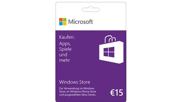 Windows Store 15€ Guthabenkarte