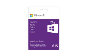 Windows Store 15 € Guthabenkarte