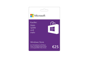 Windows Store 25 € Guthabenkarte