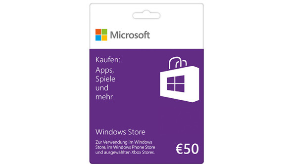 Windows Store 50 € Guthabenkarte
