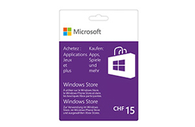 Windows Store 15 CHF Guthabenkarte