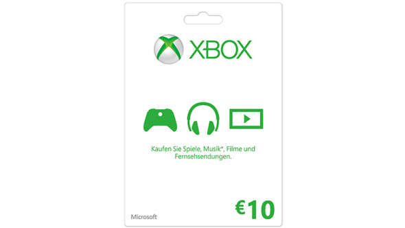 Xbox LIVE Geschenkkarte: 10 €
