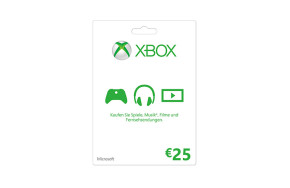 Xbox LIVE Geschenkkarte: 25 €