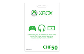 Xbox LIVE Guthabenkarte CHF50