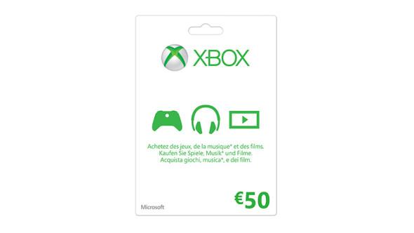 Xbox LIVE Geschenkkarte: 50 €