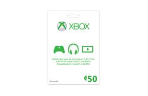 Xbox LIVE Guthabenkarte: 50 €