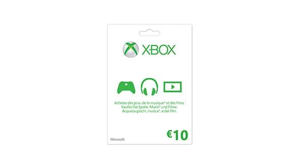 Xbox gift card da €10