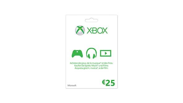 Xbox gift card da €25