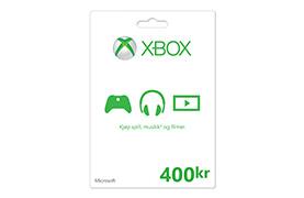 Xbox-gavekort: 400 kr