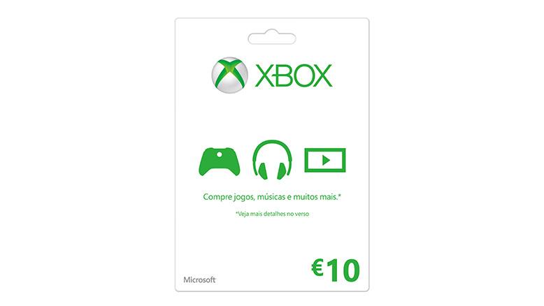 Cartão-presente Xbox LIVE: €10