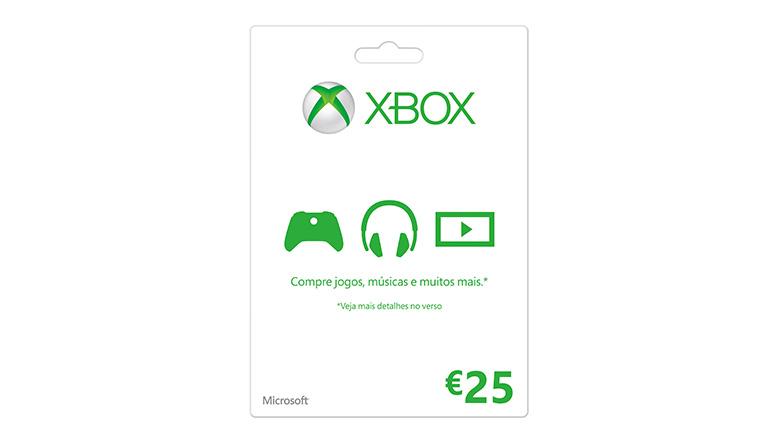 Cartão-presente Xbox LIVE: €25