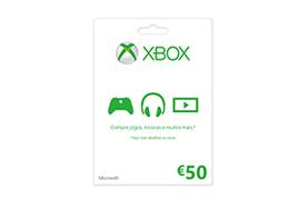Cartão-presente Xbox LIVE: €50