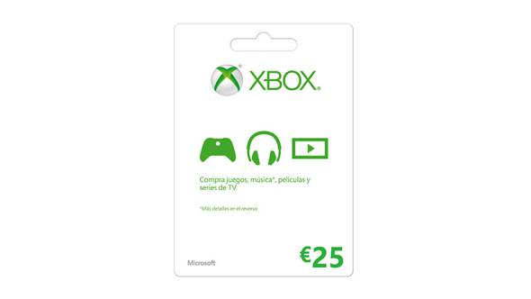 Tarjeta regalo de Xbox LIVE: 25 €