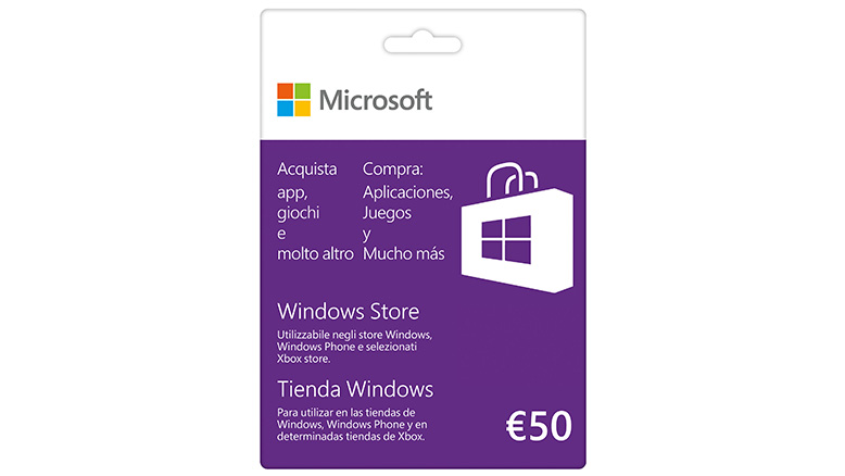 Tarjeta regalo de 50 € de la Tienda Windows