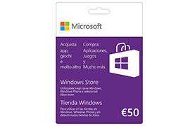 50 € Tarjeta de regalo de la Tienda Windows