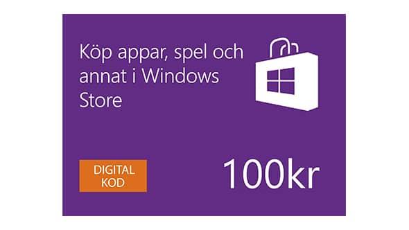 100 kr Windows Store Digital-presentkort