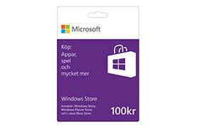 100 kr Windows Store-presentkort