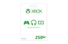 Xbox Store-presentkort: 250 kr