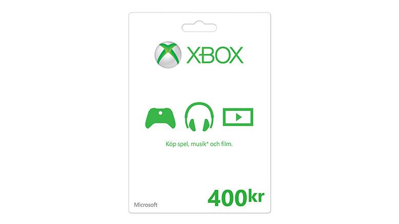 Xbox Store-presentkort: 400 kr